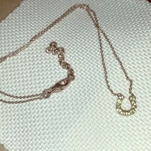 Jewelry - Genuine Peridot Horseshoe Necklace
